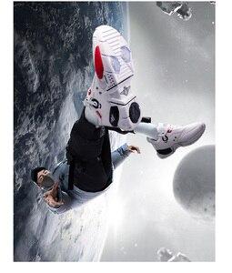 Image 5 - أحذية رياضية للرجال من ONEMIX أحذية بنمط تكنولوجي من الجلد أحذية مريحة للركض وممارسة الرياضة باللون الأحمر للسيدات أحذية ريترو أبي