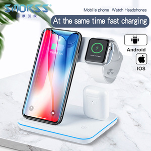 Image 1 - אלחוטי מטען עבור iPhone 11 11 פרו מקס סמסונג S10 מהיר אלחוטי 3 ב 1 טעינת Pad עבור Huawei Xiaomi 9 Airpods iWatch 4 3 2