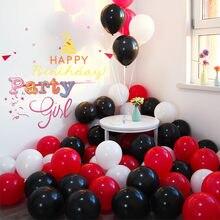 30 unidades/pacote 10 polegada joaninha quente preto vermelho ponto látex balões globos festa de bebê menina feliz aniversário balões decorações de casamento