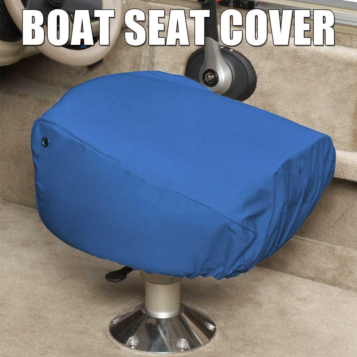 Bootssitze Abdeckung Yacht Kapit/än Stuhl Cover Wasserdicht Anti-UV Polyester Flexibel Gummizug 56x61x64cm Grau