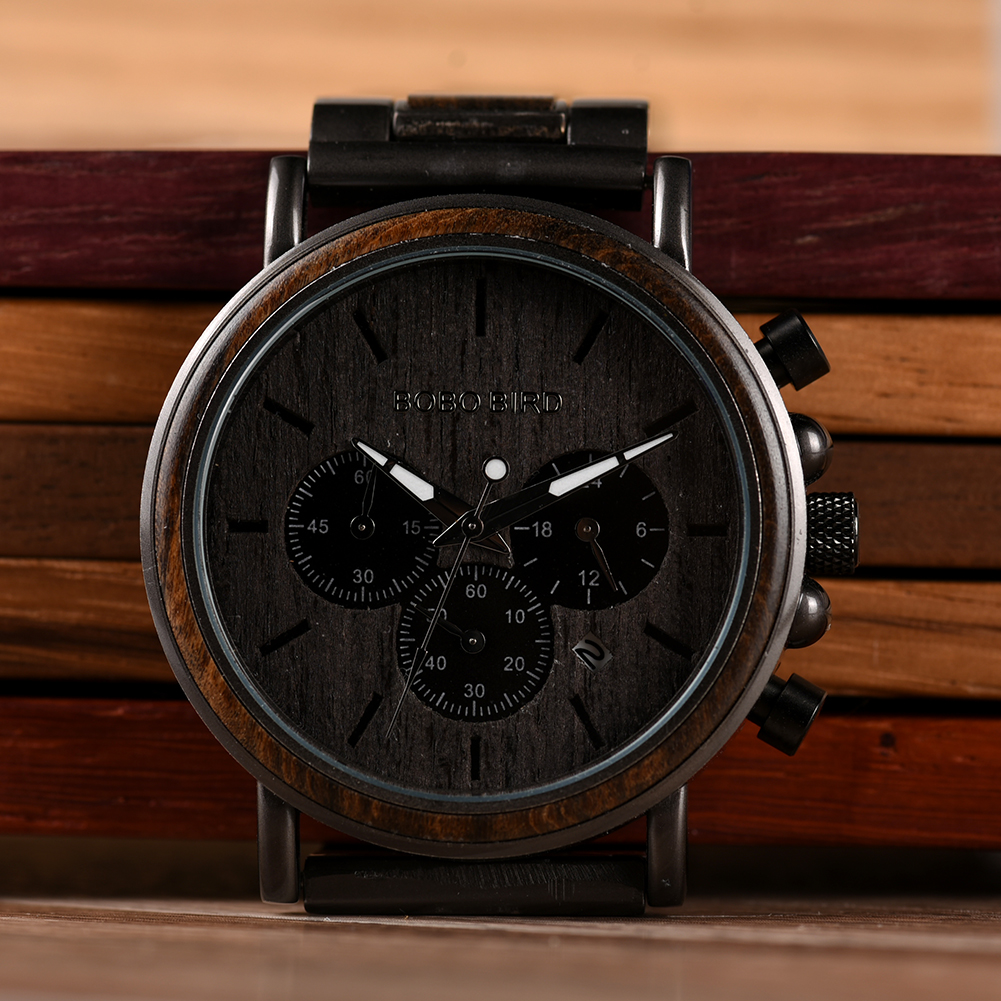 BOBO BIRD Luxury Wood Stainless Steel Men Watch Stylish Wooden Timepieces Chronograph Quartz Watches relogio masculino Gift Man Hb4066d768c48460a8c40254ee54a9f022