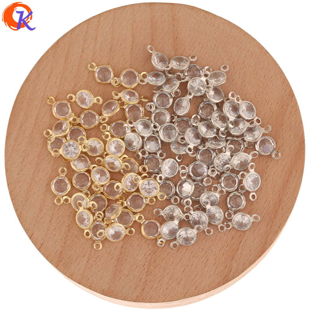 Cordial Design 300Pcs 7*13MM Jewelry Accessories/Hand Made/Rhinestone Earring Findings/Claw Chain/Earring Connectors/DIY Making