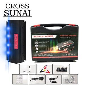 Image 1 - Tragbare Auto Starthilfe Power Bank Auto Starter USB 600A 12V 68800mAh Hohe Kapazität Ausgehend Gerät Auto Batterie ladegerät Booster