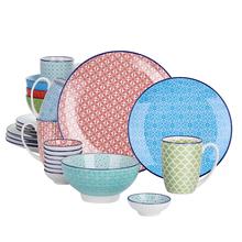 Vancasso Macaron 24-sztuk porcelanowy wielu kolor zestaw obiadowy z 4 * płytki talerz talerzyk deserowy miska kubek i 8 * który chyba danie tanie tanio MALACASA Ce ue Lfgb Zestawy obiadowy Other VC-MACARON-SL+BXD ceramic Porcelany Barwiona Ekologiczne