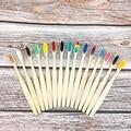12 teile/paket bambus zahn pinsel eco freundliche weiche faser zahn pinsel Solide bambus griff umwelt Oral Gesundheit Reise toothbrus