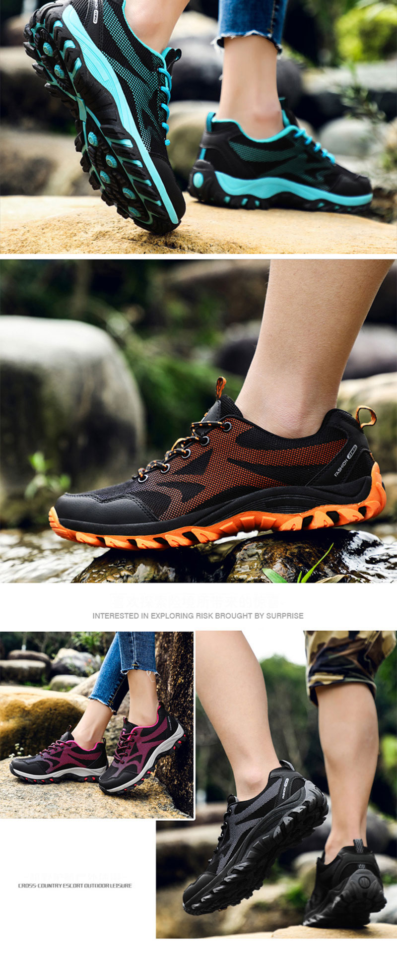 Mens Hiking Shoes Cross-Country Escort Outdoor Leisure Sneakers Climbing Shoes