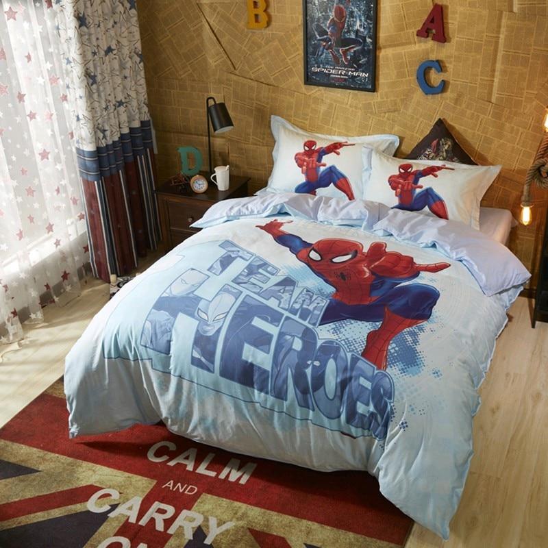 Cotton Marvel Spiderman Bedding Set Comforter Duvet Covers Pillowcases Bedroom Decor Double Queen Pillowcases For Boys Teen Mega Offer 28f0f4 Cicig