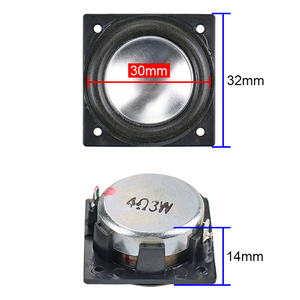 Image 3 - GHXAMP 32MM*32MM Speaker Full Range Neodymium 1.25 inch 3W Mini Square speaker Aluminum Pot Bottom Bluetooth audio 2PCS