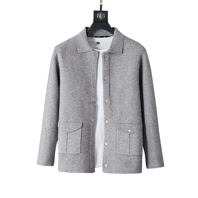 Luxurious Sweater Men Streetwear Fashion Sweater Coat Men Autumn Winter Warm Cashmere Woolen Cardigan Men With Pocket