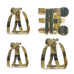 Ligature Fastener Zinc Alloy Compact Durable for Alto/ Tenor/ Soprano Sax Saxophone Rubber Mouthpiece Accessories