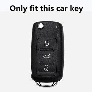 Image 2 - Funda para llave de coche, para Volkswagen VW Golf 3 4 5 6 mk4 mk6 Passat b5 b6 b7 b8 cc Polo Tiguan mk2 Touran Jetta 6 Bora mk6