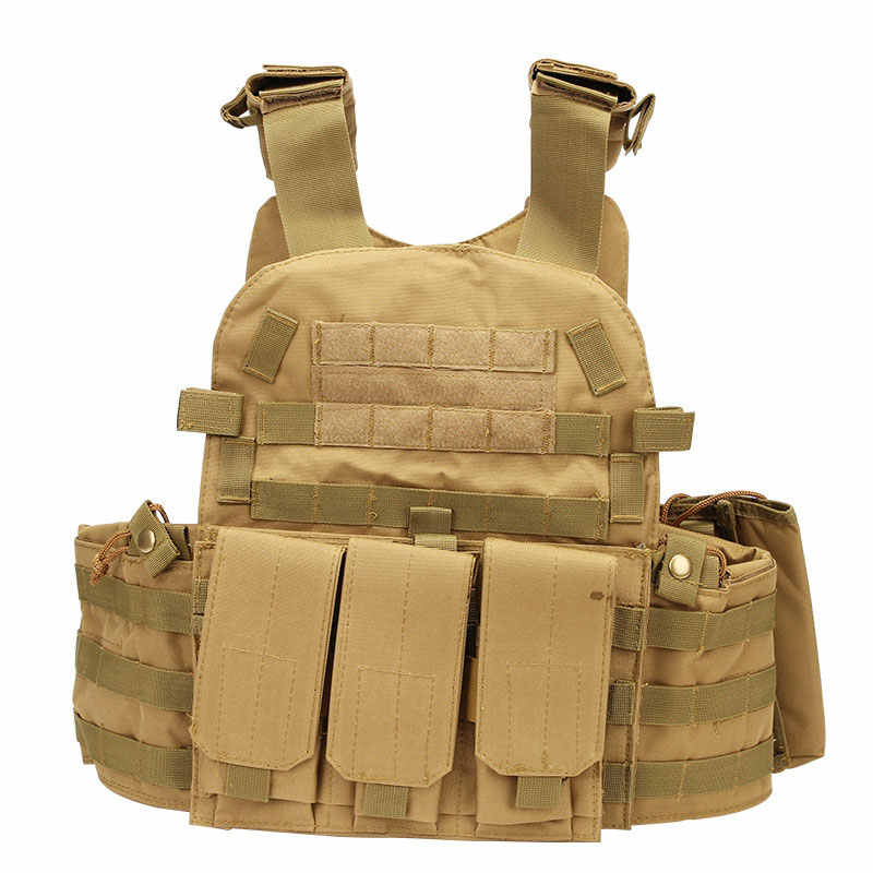 Tactical Assault Vest Camo MOLLE Military Army Modular Paintball Airsoft Hunting