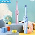 От 3 до 12 лет  USB зарядка  Детская электрическая зубная щетка  зубная щетка для детей  электрическая щетка для ухода за зубами  IPX7  водонепрони...