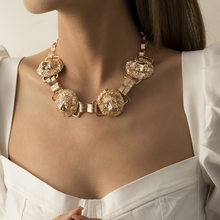 European and American jewelry fashion personality exaggerated hip-hop style clavicle lion head accessory necklace for female
