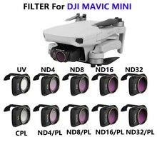 DJI Mavic Mini 2 объектив камеры ND/PL поляризационный фильтр комплект MCUV ND4 ND8 ND16 ND32 CPL Для DJI Mavic мини Дрон аксессуары