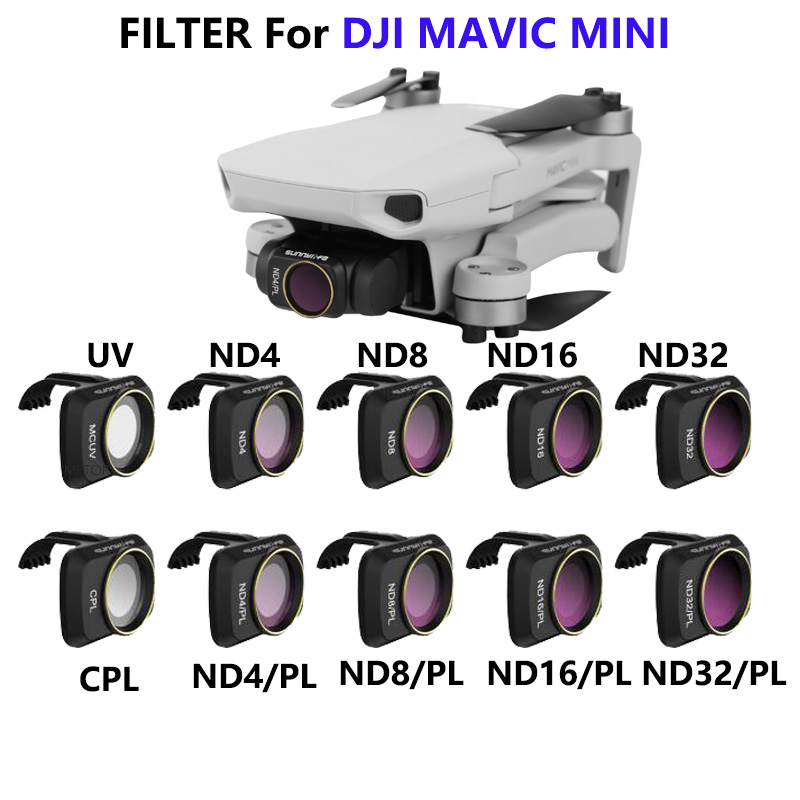 DJI Mavic Mini Camera Lens ND/PL Polarizing Filter Kit MCUV ND4 ND8 ND16 ND32 CPL For DJI Mavic Mini Drone Accessories