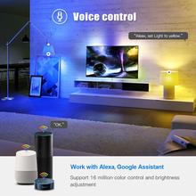 WiFi Smart Home LED Bulb RGB CW E27 LED Lamp Voice Control Color Changes Dimmable Work With Amazon Alexa Google Tuya Smart Life cheap Loginovo CN(Origin) ROHS 2700K~6500K Tuya Wifi Led Bulb 2835 Bedroom AC85-265V 500 - 999 Lumens Globe 50000h 125mm LED Bulbs