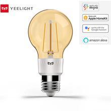 Lâmpada inteligente yeelight, lâmpada led original, filamento yld22il, 500 lúmens, 6w, limão, lâmpada inteligente, para apple homekit
