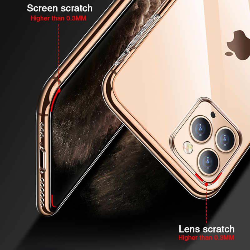 Custodia in Silicone trasparente Ultra sottile per iphone 11 Pro Max custodia iphone XR XS Max X 7 8 6 6S Plus Cover posteriore trasparente in TPU morbido