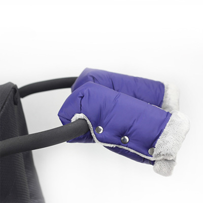 Winter Warm Fleece Baby Stroller Buggy Pram Gloves Windproof Pushchair Cart Hand Muff Waterproof Glove With Pocket For Phone Buggy Kids Children Pram Gloves Baby Gifts