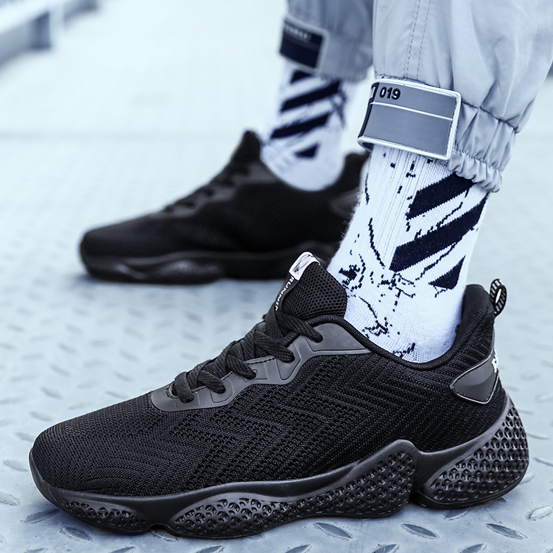 Fashion Hee Men Sport Air Run Shoes Sneakers Athletic Shoes White Black