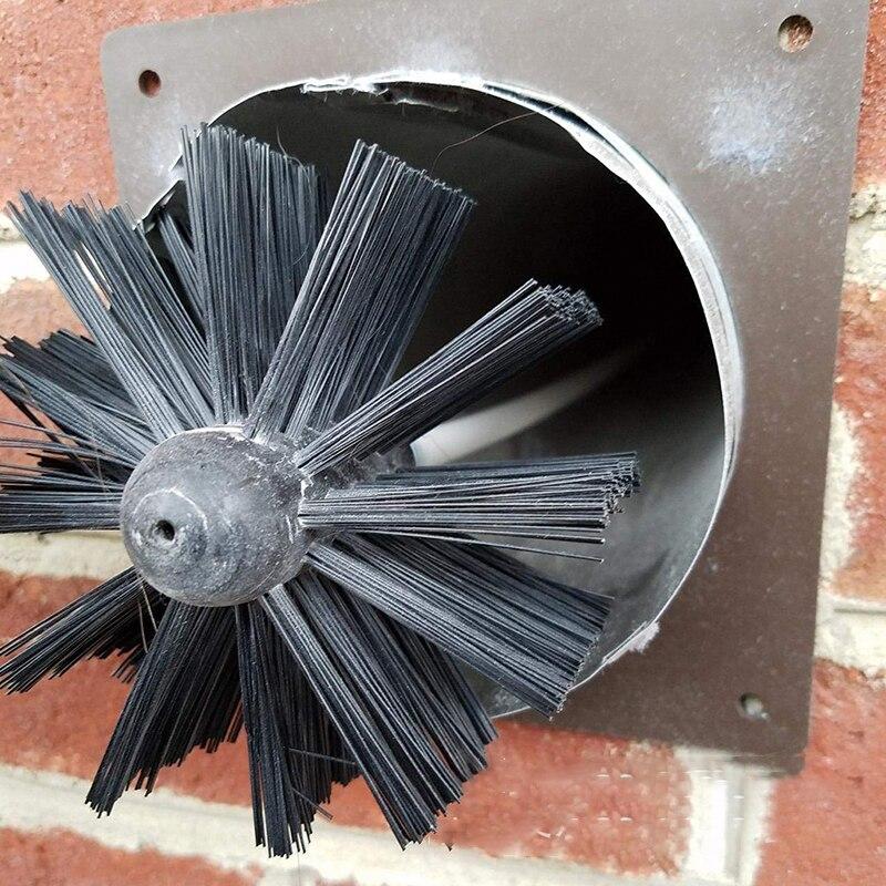 Вращающийся сборный дымоход очиститель комплект удлинитель развертки Чистка бойлер щетка сушилка камин печи ручной инструмент