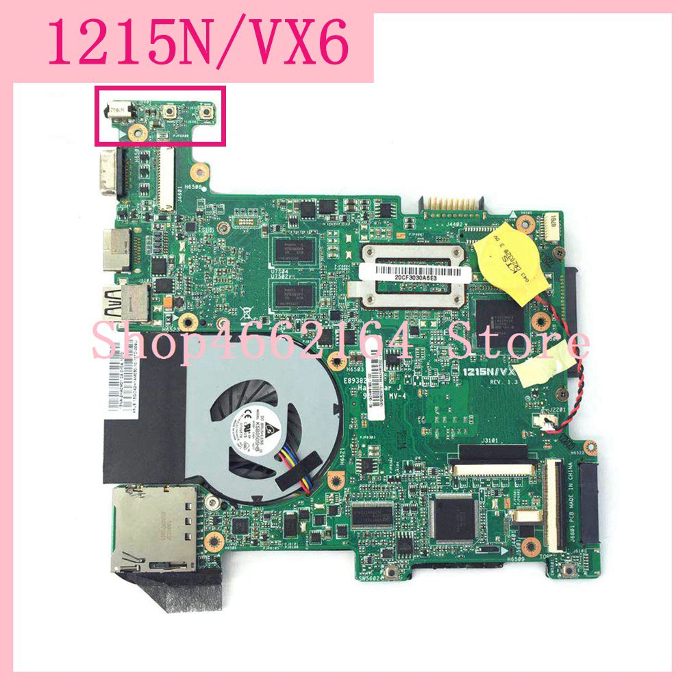 1215N/VX6 Laptop motherboard REV2.0 For ASUS EEE PC 1215N 1215 mainboard 100%Tested Working fully tested free shipping