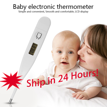 Digital Electronic Clinical Thermometer Portable LCD Thermometer Baby Adult Body Kids Safe Ear Mouth Temperature For Fever Alert image