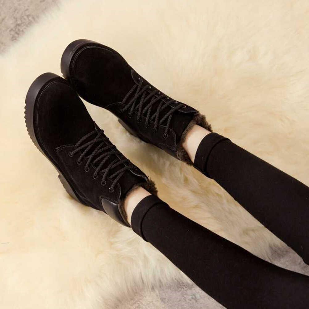 2020 boyutu 41 rusya kış kadın ayakkabı kar botları sıcak peluş akın yuvarlak ayak eğlence moda yarım çizmeler kış