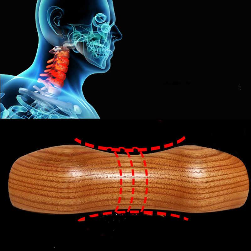 solid wood pillow cervical spine adult
