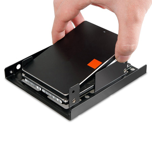 Double Layer SSD Metal Frame 2.5 Inch To 3.5inch External SSD Metal Mounting Kit Adapter Bracket Durable For SATAII, SATAIII(China)