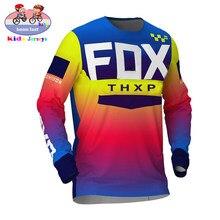 Camiseta de carreras para niños, Jersey de descenso para Motocross DH MX, FOX