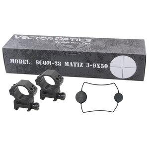 Image 5 - Vector Optics mira para Rifle de caza Rimfire, cristal grabado #4, retícula iluminada con imagen de borde a borde, 1 pulgada, Matiz 3 9x50 E 25,4mm