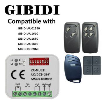 GIBIDI garage door remote control 433.92MHz transmitter receiver GIBIDI gated rolling code 433 MHz garage command gated guangzhou
