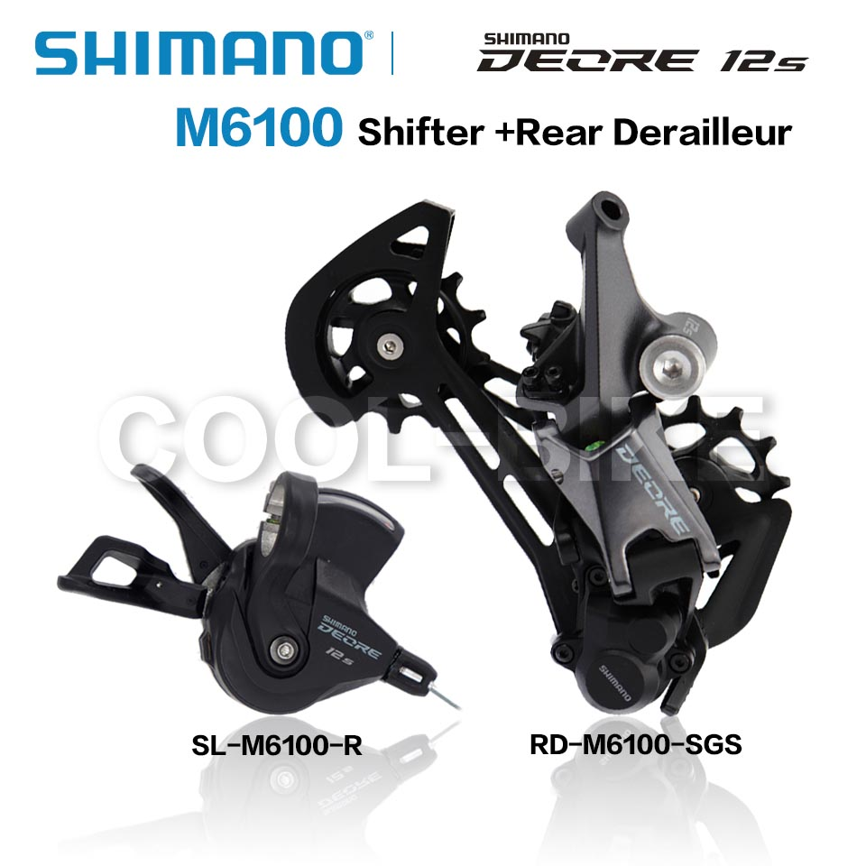 Переключатель передач SHIMANO DEORE SLX M6100 M7100 Groupse, задний переключатель передач для горного велосипеда, 1x12-Speed M6100 M7100