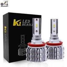 цена на FUXUAN Car Led Headlight 12V 24V H1 H4 H7 Car Light 9005 9006 Led H3 H8 H9 H11 9012 led bulb 6000K 36W Mini  Accessories 2Pcs