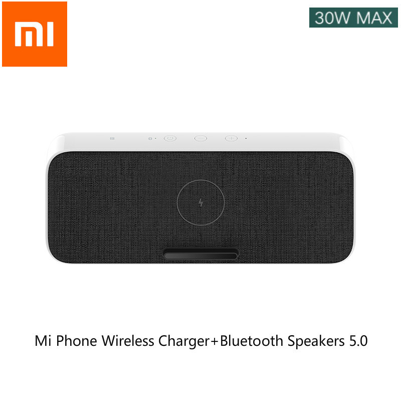 Xiaomi 2in1 Mi Phone Wireless Charger+Bluetooth Speakers 5.0 Fast Charge Mi 10,Mi 10 Pro,iPhone 11 Samsung S10 USB 30W MAX Xiomi
