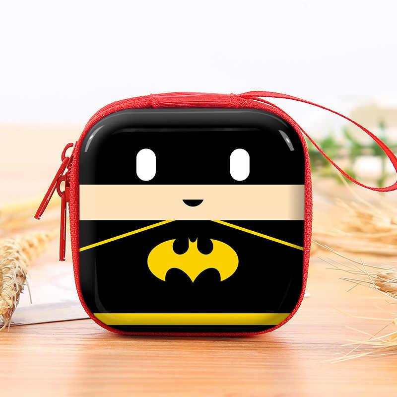 خارقة الكرتون محفظة للعملة باتمان كابتن أمريكا بنين مفتاح حافظة محافظ الأطفال الرجل العنكبوت سوبرمان سماعة حقيبة عملة أكياس