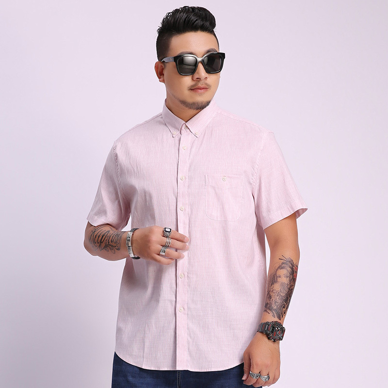 8xl 6xl 5xl Men's Pure Cotton Shirt Slim Fit Fashion Short Sleeve Casual Business Shirts Men Dress Shirts High Quality Camisas