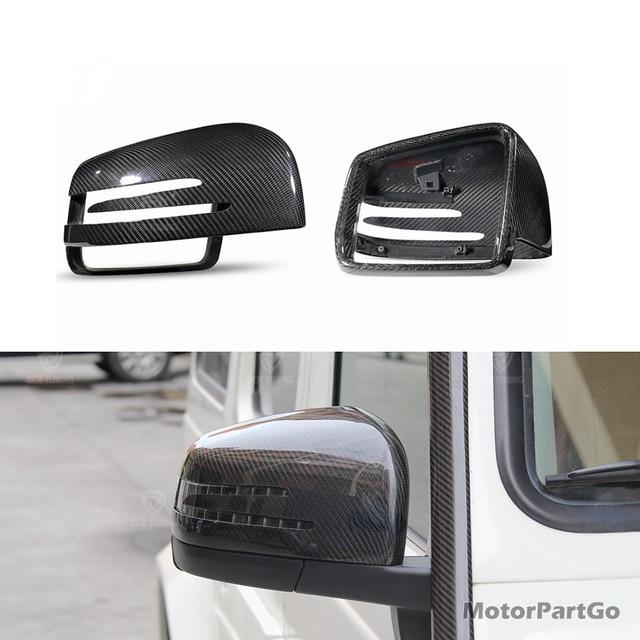 Real DRY Crabon Fiber Mirror Cover Exchange original 1 pair for   Mercedes - Benz W463 X166 W166  GLE 3
