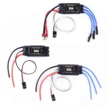 Controlador de velocidad del Motor sin escobillas, 30A, 2-4S, ESC, t-rex, 450 V2, helicóptero, barco para FPV, F450, Mini Qua