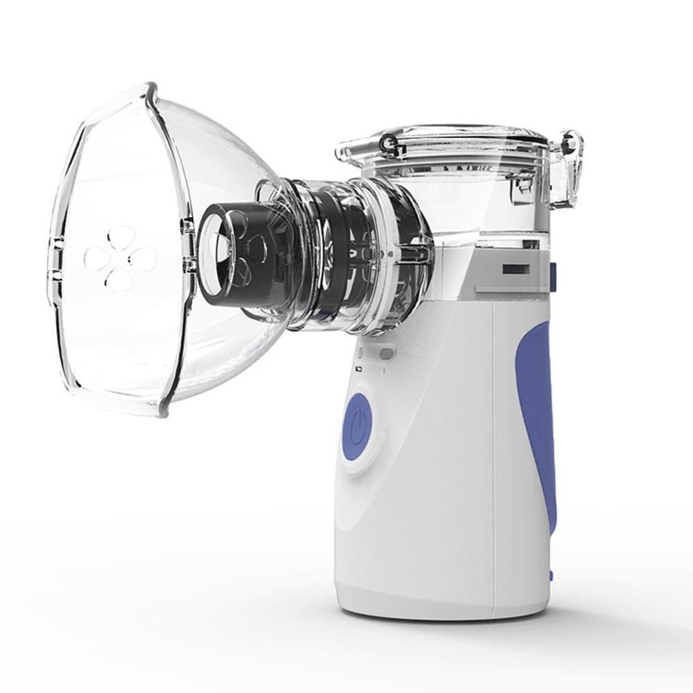 Portable Mini Handheld Facial Steamer Nebuliser Steaming Skin Care Atomizer Respirator Humidifier Adult Kid Inhaler Nebulizer