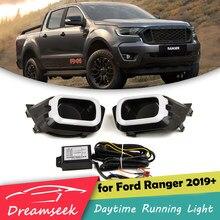 Dreamseek-Lámpara LED DRL para coche, luz de conducción diurna con intermitente de señal de giro, para Ford Ranger 2019 2020