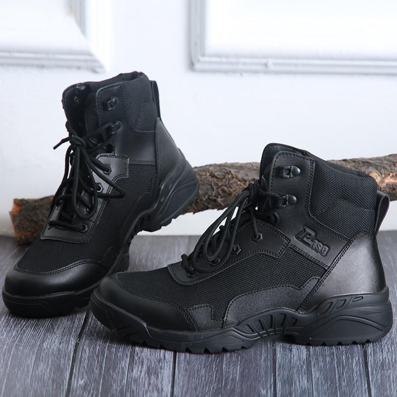 SneakersFor Women Men's Black Short Combat Boots Tactical Boots Outdoor Climbing Boots Hiking Shoes Trekking Shoes Shoes Trendy