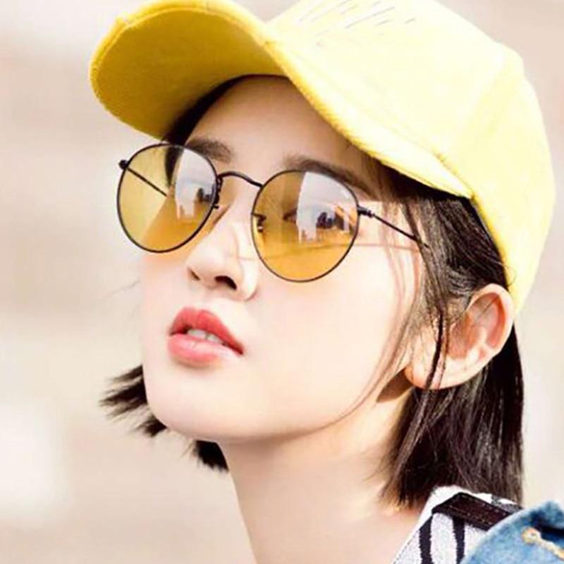 LS JOHN Sunglasses Women/Men Brand Designer Glasses Lady Round Luxury Retro Sun Glasses Vintage Mirror Oculos De Sol Gafas