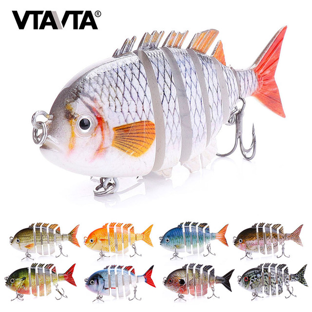 8cm 14g Sinking Wobblers Fishing Lure Jointed Swimbait