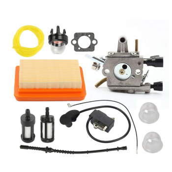 1 Set  FS120 FS200 FS250 Trimmer Cutter Practical Durable Carburetor Kit Air Filter For Stihl 38mm cylinder piston pin ring kit for stihl fs120 fs200 fs200r fs250 parts 4134 020 1212 brush cutter trimmers