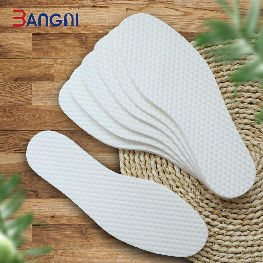 3ANGNI Disposable 5 Pair Wood Pulp Insoles For Shoes Plant Nature Health Wood Shoe Pad Insrets Women Men Travel Goods