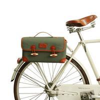 Tourbon Vintage Bike Front Handlebar Bag Cycling Canvas Pouch Pannier Shoulder Bags Foldable Multi Purpose Bicycle Accessories