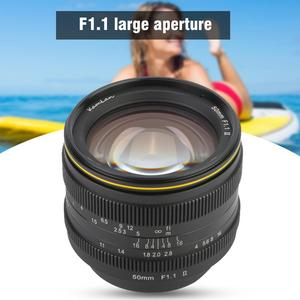 Image 2 - Kamlan 50mm f1.1II büyük diyafram manuel odak APS C aynasız lens CanonM Sony E Fuji M43 montaj kamera